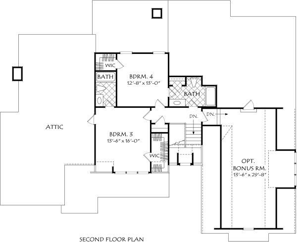 Dream House Plan - Farmhouse Floor Plan - Upper Floor Plan #927-999