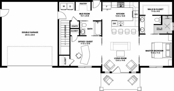Farmhouse Floor Plan - Other Floor Plan #126-175