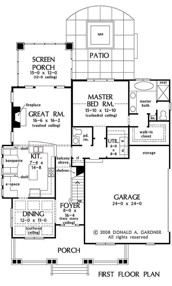House Plan Design - Bungalow Floor Plan - Main Floor Plan #929-38