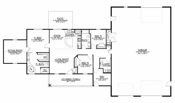 Home Plan - Farmhouse Floor Plan - Main Floor Plan #1064-117