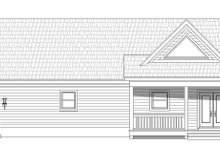Country Exterior - Rear Elevation Plan #932-60