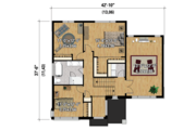 Contemporary Style House Plan - 3 Beds 1 Baths 2342 Sq/Ft Plan #25-4421 Floor Plan - Upper Floor Plan