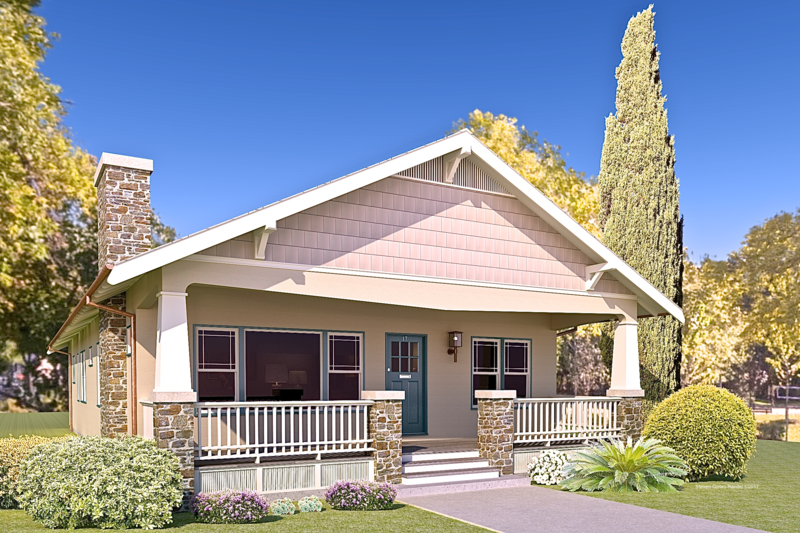 Craftsman Exterior - Front Elevation Plan #489-10