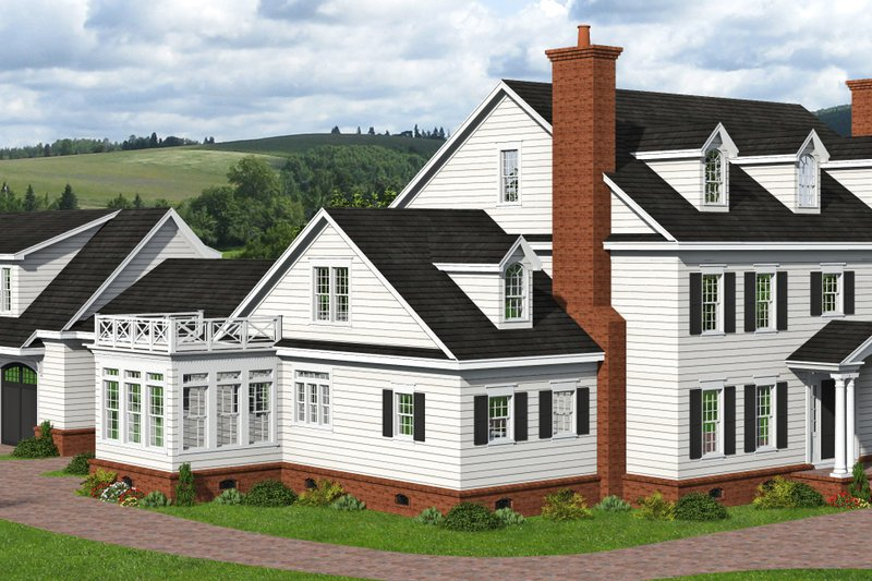 Home Plan - Country Exterior - Front Elevation Plan #932-366