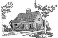 Colonial Exterior - Front Elevation Plan #72-114