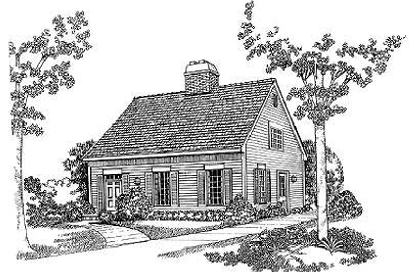 Dream House Plan - Colonial Exterior - Front Elevation Plan #72-114
