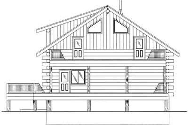 Log Exterior - Rear Elevation Plan #117-496 - Houseplans.com
