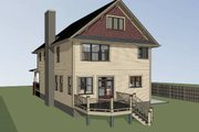 Country Style House Plan - 4 Beds 3 Baths 2418 Sq/Ft Plan #79-279 Exterior - Other Elevation