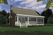 Ranch Style House Plan - 3 Beds 2 Baths 1154 Sq/Ft Plan #21-120 Exterior - Rear Elevation