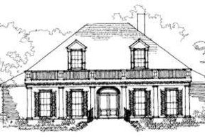 Southern Exterior - Front Elevation Plan #325-141