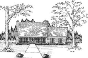 Traditional Exterior - Front Elevation Plan #37-172