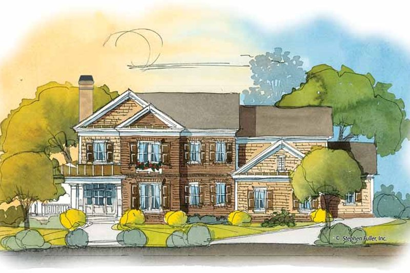 Colonial Exterior - Front Elevation Plan #429-409