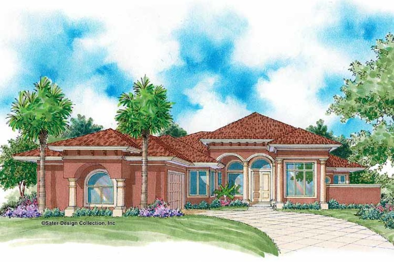 Mediterranean Exterior - Front Elevation Plan #930-340 - Houseplans.com