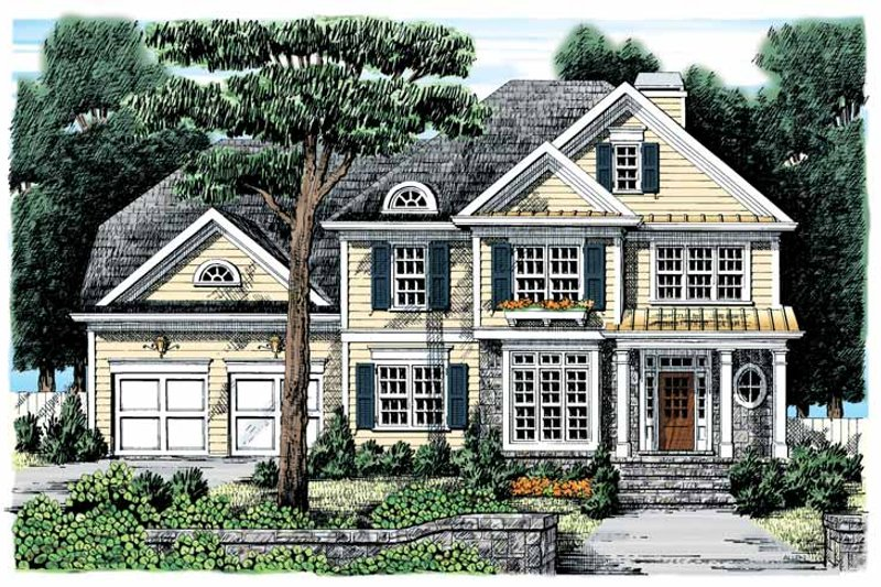 Country Exterior - Front Elevation Plan #927-881