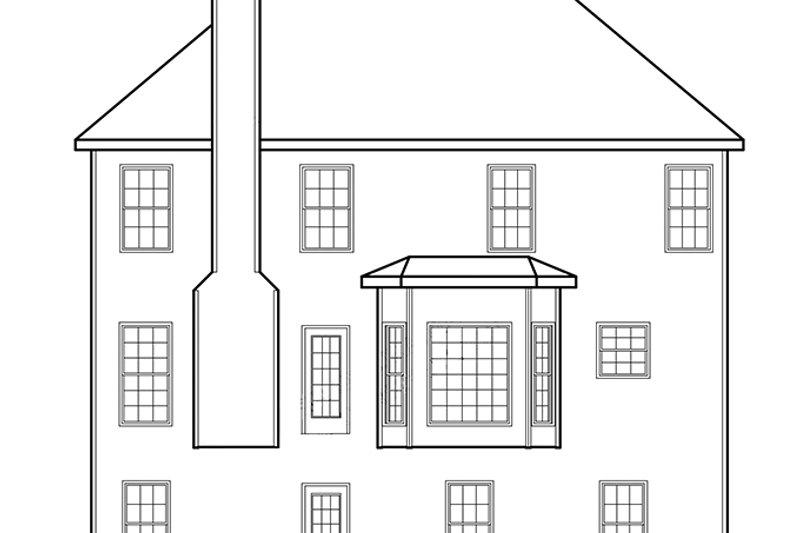 Traditional Exterior - Rear Elevation Plan #927-193 - Houseplans.com