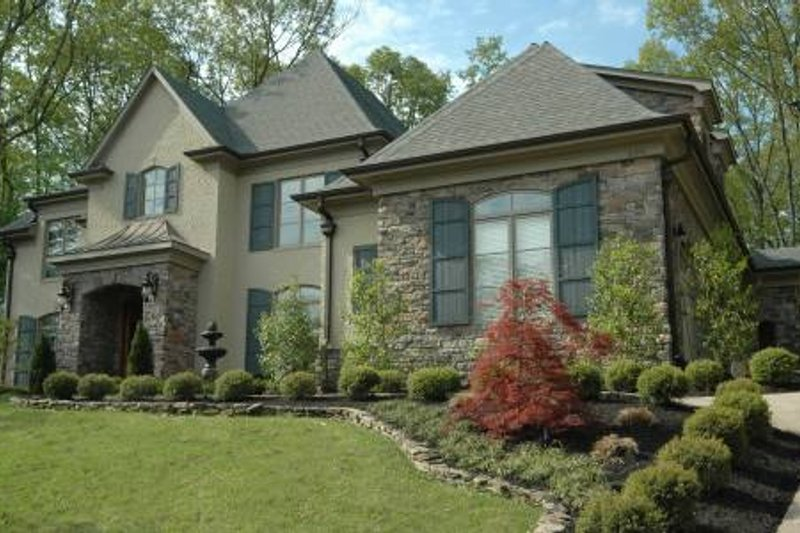 European Style House Plan - 4 Beds 4.5 Baths 4971 Sq/Ft Plan #424-31 Exterior - Front Elevation