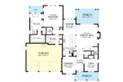 Farmhouse Style House Plan - 4 Beds 3.5 Baths 2944 Sq/Ft Plan #48-982