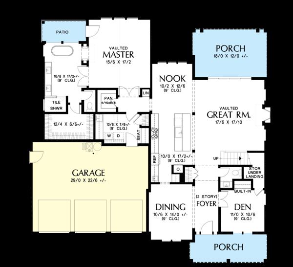 Farmhouse Floor Plan - Main Floor Plan Plan #48-982