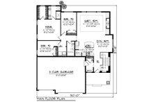 Ranch Floor Plan - Main Floor Plan Plan #70-1457