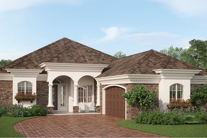 Country Exterior - Front Elevation Plan #938-14 - Houseplans.com