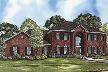 Colonial Exterior - Front Elevation Plan #17-3202
