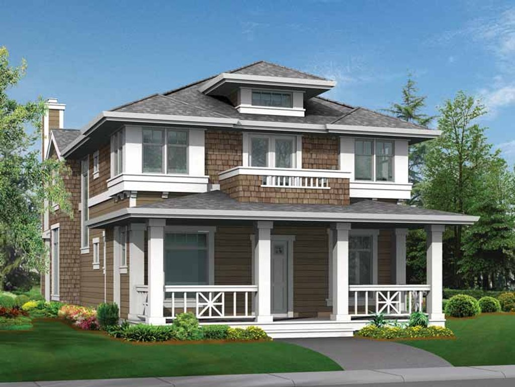 Craftsman style house plan 3 beds 2 5 baths 2505 sq ft for Craftsman vs mission style