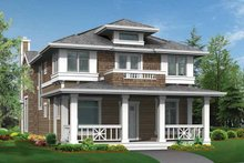 Dream House Plan - Craftsman Exterior - Front Elevation Plan #132-235