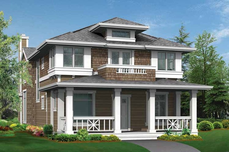 Craftsman Exterior - Front Elevation Plan #132-235 - Houseplans.com