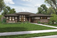 Contemporary Exterior - Front Elevation Plan #48-917
