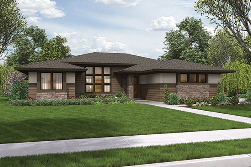 Architectural House Design - Contemporary Exterior - Front Elevation Plan #48-917