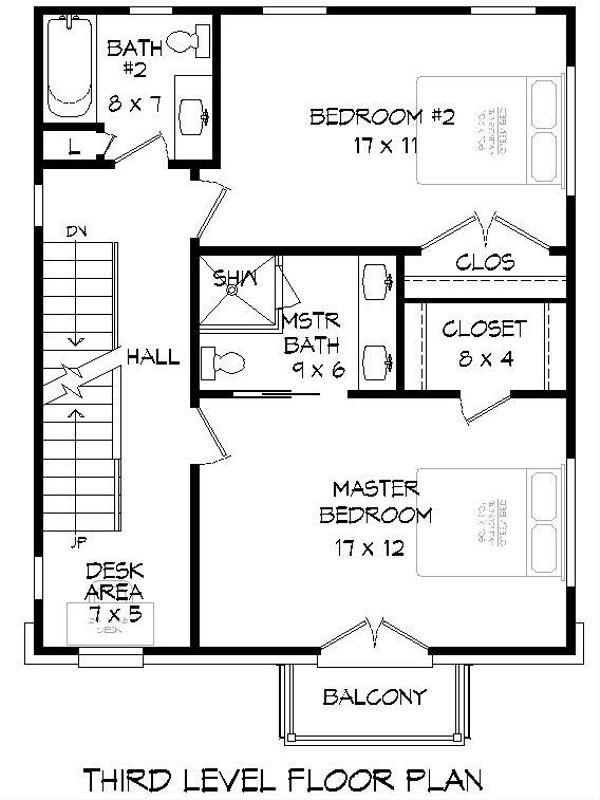 House Plan Design - Contemporary Floor Plan - Upper Floor Plan #932-213