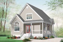 Home Plan - Country Exterior - Front Elevation Plan #23-2403