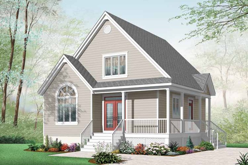Country Exterior - Front Elevation Plan #23-2403
