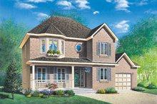 Home Plan - European Exterior - Front Elevation Plan #23-2130