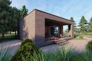 Modern Style House Plan - 2 Beds 1 Baths 545 Sq/Ft Plan #549-35 Exterior - Other Elevation