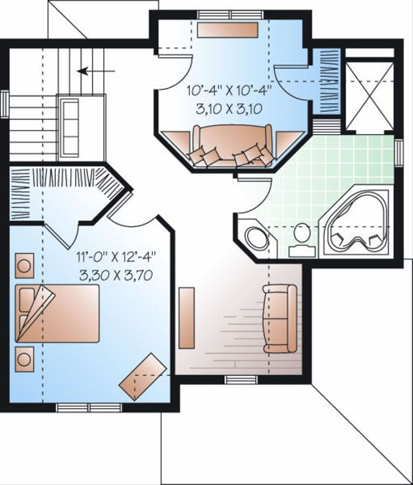 Farmhouse Floor Plan - Upper Floor Plan Plan #23-820