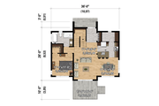 Cottage Style House Plan - 3 Beds 2 Baths 1511 Sq/Ft Plan #25-4921