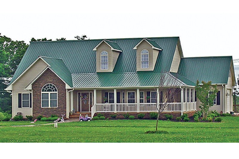 Colonial Exterior - Front Elevation Plan #314-282 - Houseplans.com