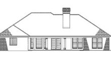 House Design - Ranch Exterior - Rear Elevation Plan #17-2624
