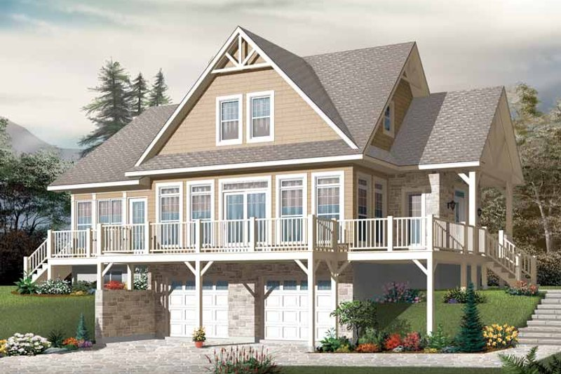 European Exterior - Front Elevation Plan #23-2484 - Houseplans.com