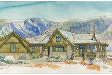 Architectural House Design - Adobe / Southwestern Exterior - Front Elevation Plan #928-182