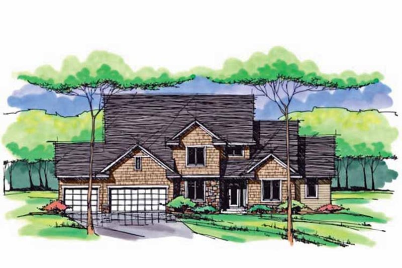 Colonial Exterior - Front Elevation Plan #51-1042