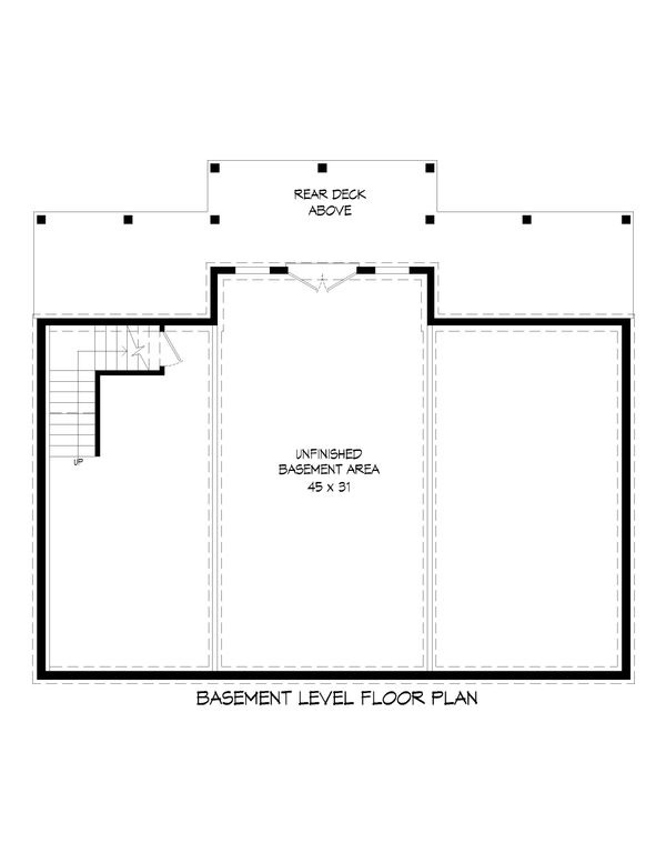 Country Floor Plan - Lower Floor Plan #932-55