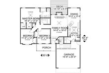 Traditional Floor Plan - Main Floor Plan Plan #56-115