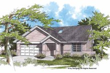 Dream House Plan - Ranch Exterior - Front Elevation Plan #48-728
