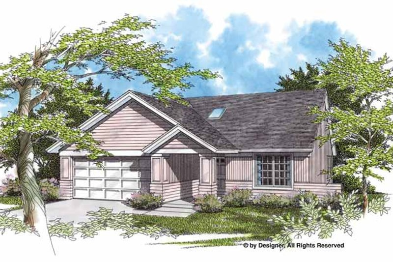 Ranch Exterior - Front Elevation Plan #48-728