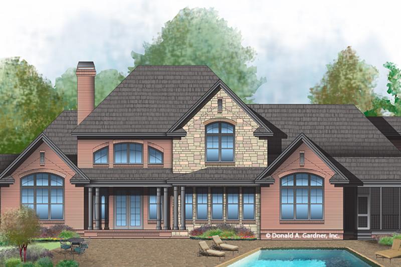 Country Exterior - Rear Elevation Plan #929-1000 - Houseplans.com
