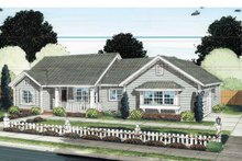 House Plan Design - Traditional Exterior - Front Elevation Plan #513-2129
