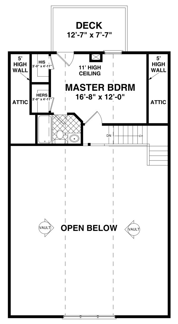 House Plan Design - Craftsman Floor Plan - Upper Floor Plan #56-724