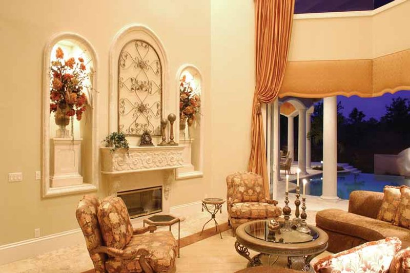 Mediterranean Interior - Family Room Plan #1017-1 - Houseplans.com